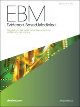 Evidence Based Medicine: 17 (2)