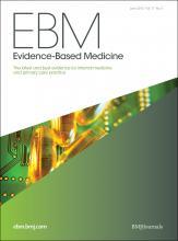 Evidence Based Medicine: 17 (3)