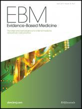 Evidence Based Medicine: 18 (2)