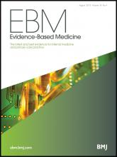 Evidence Based Medicine: 18 (4)
