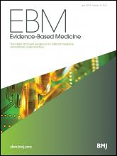 Evidence Based Medicine: 19 (3)