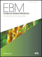 Evidence Based Medicine: 20 (2)