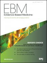 Evidence Based Medicine: 21 (3)