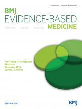 BMJ Evidence-Based Medicine: 24 (Suppl 2)