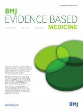 BMJ Evidence-Based Medicine: 26 (2)
